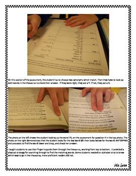 Antonym and Synonym Assessment VAAP Grade 7 7E-RW-1