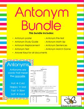 Antonym and Synonym Bundles
