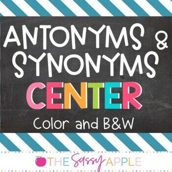 Antonym and Synonym Centers