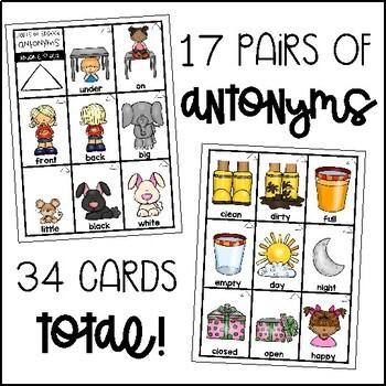 Antonym and Synonym Flashcards