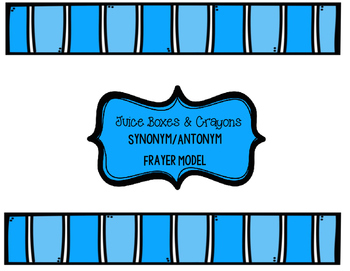 Antonym and Synonym Frayer Model