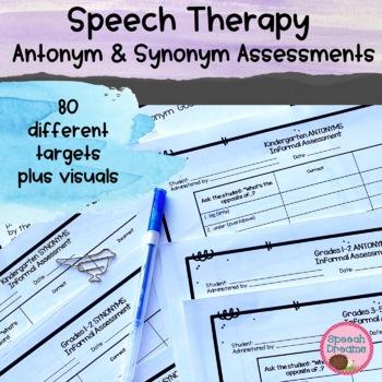 Antonym and Synonym Informal Assessment