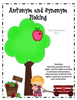 Antonym and Synonym Picking
