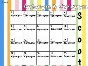 Antonym and Synonym Scoot