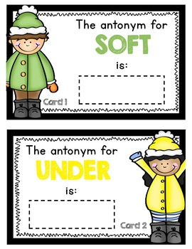 Scoot Antonym and Synonym - FREEBIE