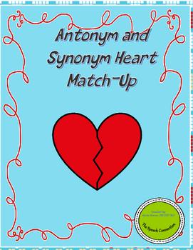 Antonym and Synonym Valentine Match-up