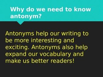 Antonym interactive PowerPoint