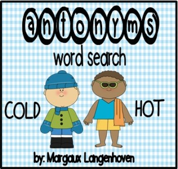 Antonym wordsearch by Margaux Langenhoven