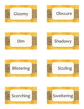 Antonym/Synonym Snap - Card Game - Grammar