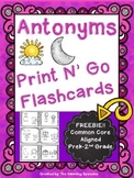 Antonymns Print N' Go Flashcards FREEBIE