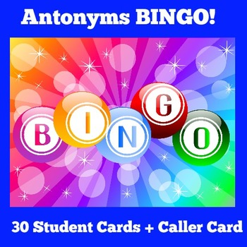 Antonym Bingo | Antonym Activity | Antonym Games