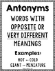 Antonyms: Activities, Game, and Posters for Practice & Review