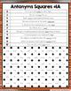 Antonyms Activities: 12 Differentiated Antonyms Games
