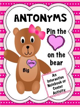 Antonyms interactive notebook activity assessment practice