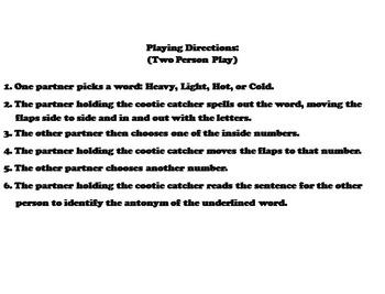 Antonyms Activity 4th, 5th, 6th Grade (Vocabulary Practice)