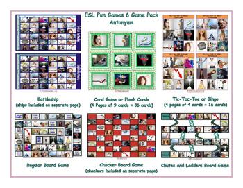 Antonyms 6 Board Game Bundle
