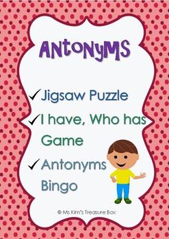 Antonyms Activities