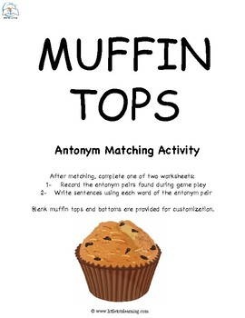 Antonyms Activities Pack