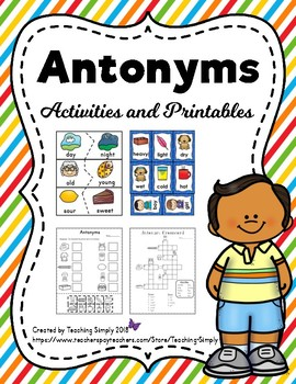Antonyms Activities and Printables