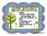 Antonyms Activity PLUS Center Work
