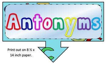 Antonyms Anchor Chart
