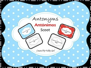 Antonyms - Antonimos Scoot