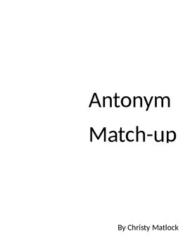 Antonyms Apple Matchup
