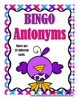 Antonyms - Bingo