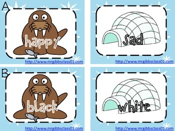 Antonyms Center - Find the Walruses Home