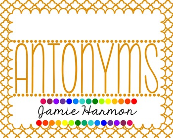 Antonyms Chart Set
