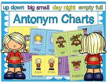 Antonym Charts (Posters Showing 11 Sets of Opposites)