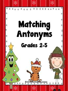 Antonyms: Christmas Matching Game