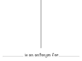 Antonyms Class Book