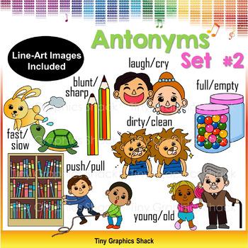 Antonyms Clipart Set 2