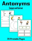 Antonyms Compare and Contrast (Print + Digital Activity)