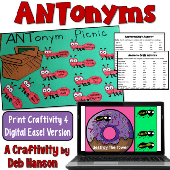 Keep your students engaged with this antonym craftivity!