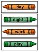 Antonyms Crayon Theme