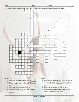 Antonyms Crossword Puzzle