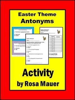 Easter Antonyms Task Cards