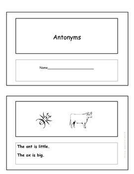 Antonyms Emergent Reader