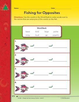 Antonyms--Fishing for Opposites Literacy Center (eLesson)