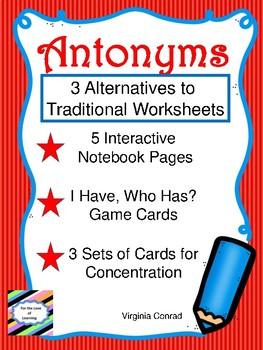 Antonyms:  Fun Extras to Use