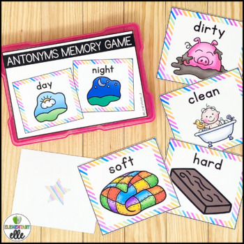 Antonym Pairs Memory Match {Language Arts Mini-Center}