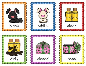 Antonyms Game Pack - Includes: I Have, Who Has & Memory