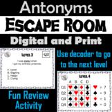 Antonyms Game: ELA Escape Room - English (Vocabulary Game)