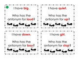 "Antonyms ""I Have, Who Has?"" Game Cards"