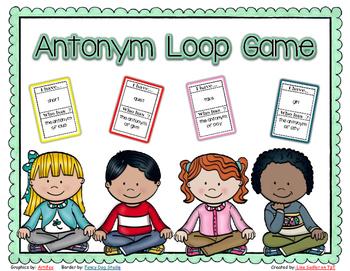Antonyms - I have - Who Has Loop Card Game