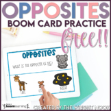 Antonyms: Identifying Opposites Boom Cards for Distance Learning