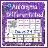 Antonyms Differentiated:Second to Fourth Grades
