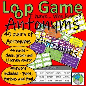 Antonyms - Loop Game - 45 Pairs of Words
